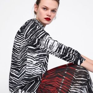 Stunning Dress with Animal Print Trim